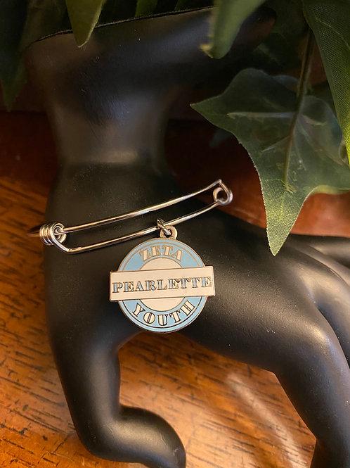 Pearlette Zeta Youth Stainless Bangle Bracelet