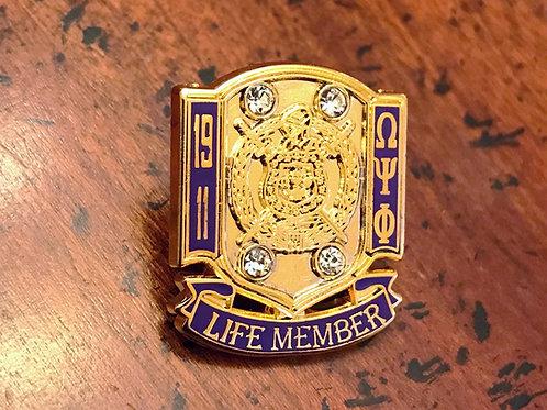 Omega Psi Phi Life Member Lapel Pin