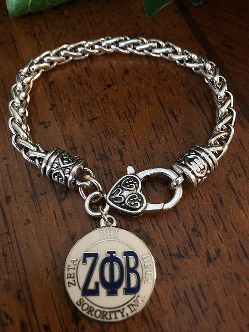 Zeta Letter Lobster Claw Bracelet