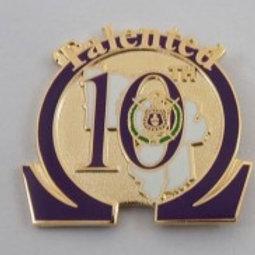 Omega Psi Phi District 10 Lapel Pin