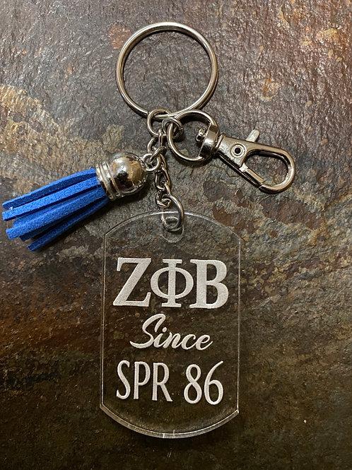 Zeta Phi Beta Since Acrylic Keychain
