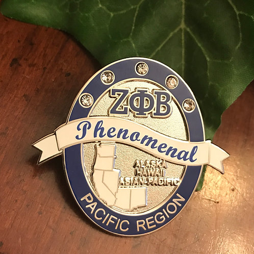 Zeta Phi Beta Pacific Region Lapel Pin