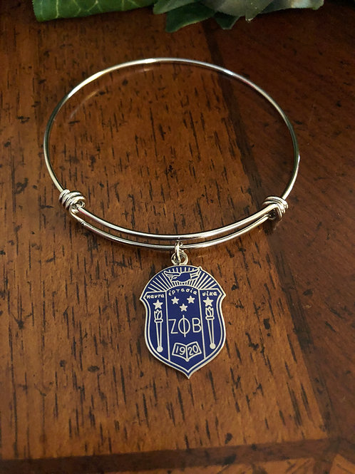 Zeta Shield Bangle Bracelet