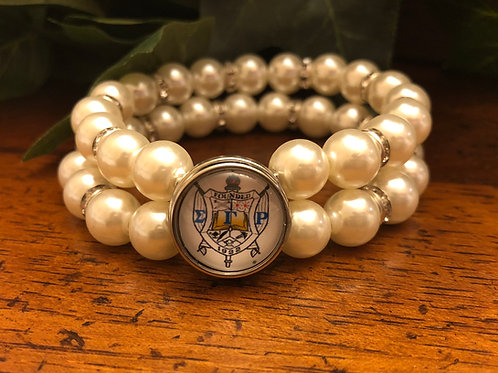 Sigma Gamma Rho Pearl Snap Bracelet