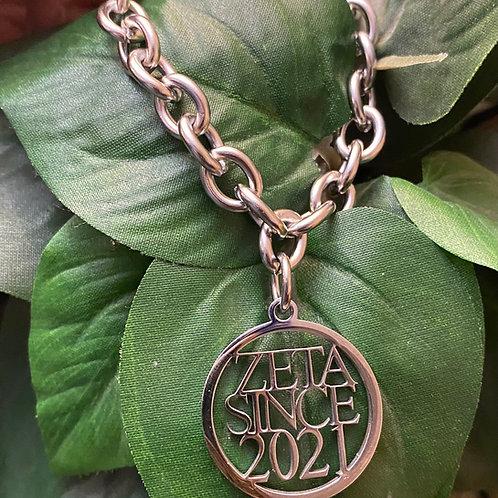 Zeta Since 2021 Stainless Link Bracelet