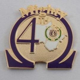 Omega Psi Phi 4th District Lapel Pin