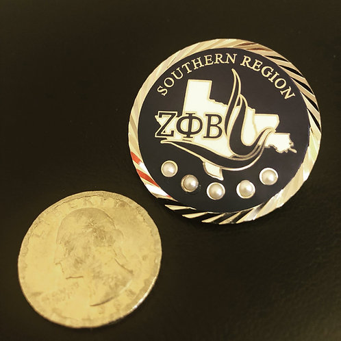 Zeta Phi Beta Southern Region Lapel Pin