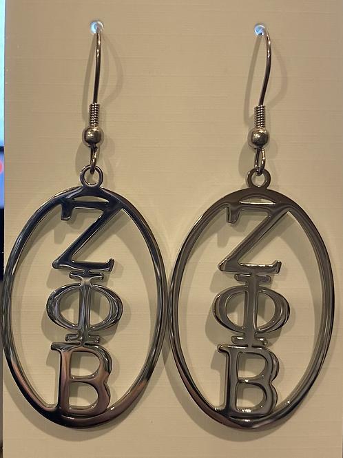 Zeta Stainless Oval Earrings