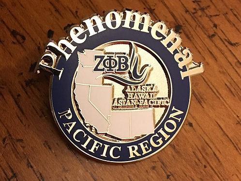 Zeta Phi Beta Pacific Region Pin