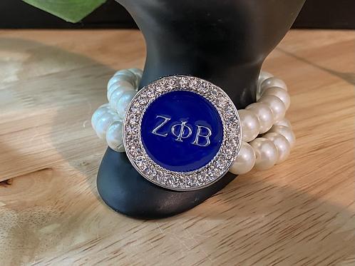 Zeta Crystal  Pearl Bracelet
