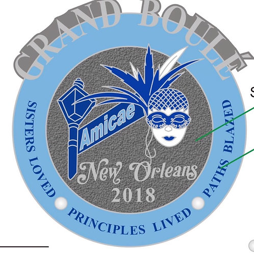 2018 Commemorative Zeta Amicae Boule Pin
