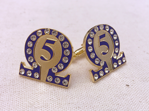 Omega Psi Phi Line Number 5 Cufflinks