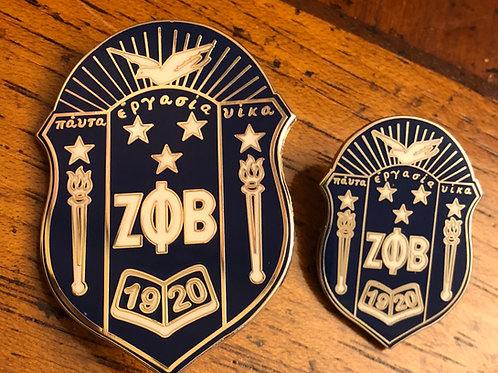 Zeta Phi Beta Shield Lapel Pin Set