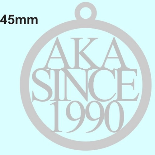 AKA Since 1990 Stainless Toggle Necklace