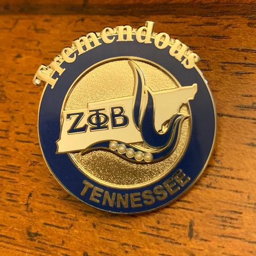 Zeta Phi Beta Tennessee Lapel Pin