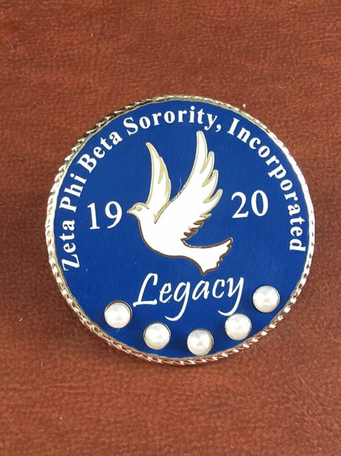 Zeta Phi Beta LEGACY pins