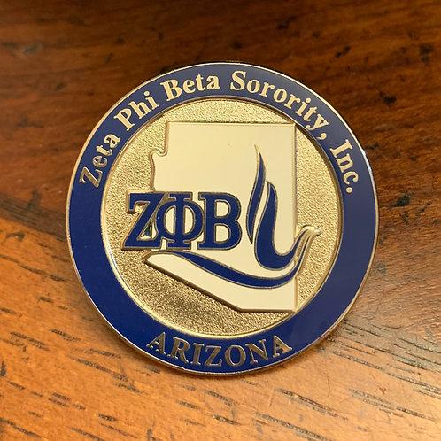 Zeta Phi Beta Arizona Lapel Pin