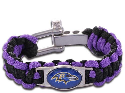 Ravens Corded Bracelet