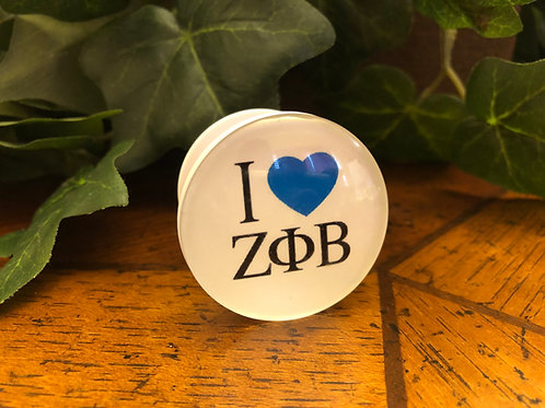 Zeta Phi Beta Glass Phone Holder