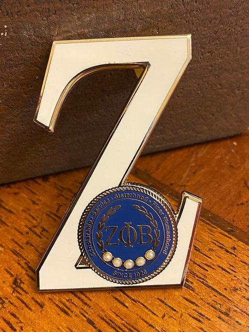 Zeta Executive Z Lapel Pin w/blue circle
