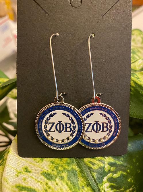 Zeta White Executive Earrings