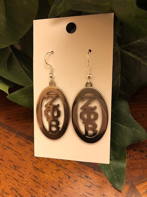 Zeta Oval Earrings