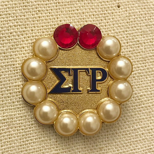 Sigma Gamma Rho Pearls and Rubies Lapel Pin