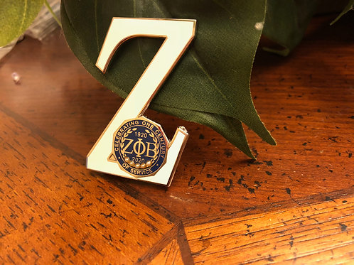 Zeta Phi Beta Centennial Z Lapel Pin