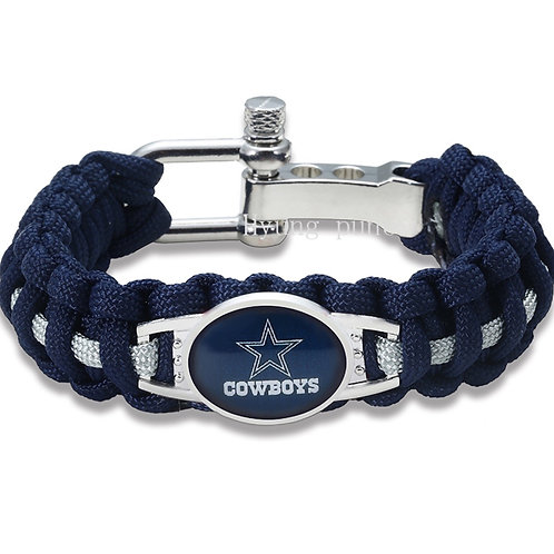 Cowboys Blue Corded Bracelet