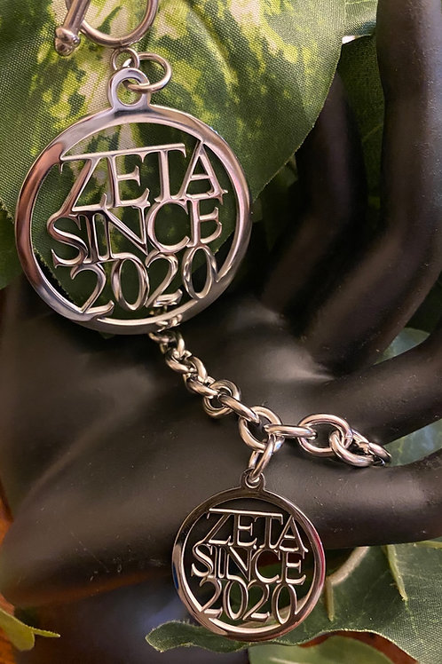 Zeta Since  (1980-2009) Stainless Necklace and Bracelet Set