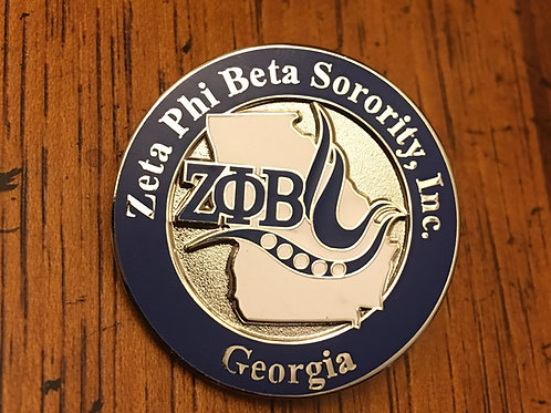 Zeta Phi Beta Georgia Lapel Pin