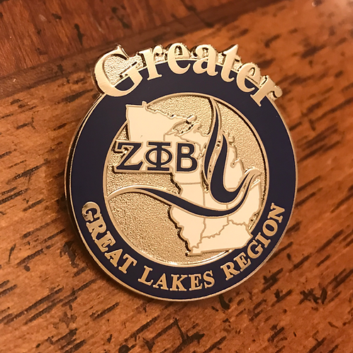 Zeta Phi Beta Great Lakes Region Pin