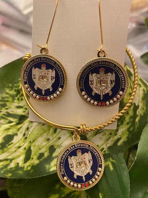 SGRho Rhoyal Shield Executive Set (earrings and bracelet)