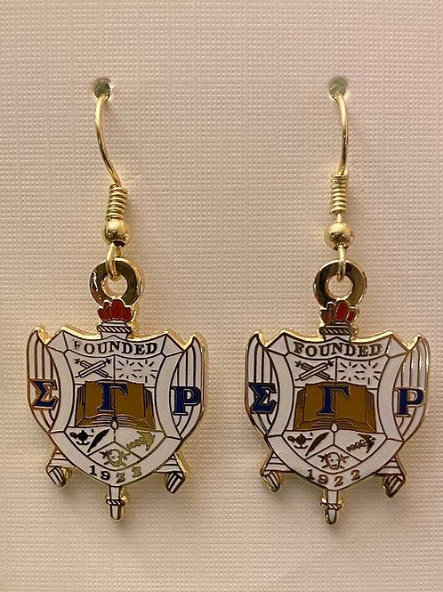 SGRho Shield Earrings