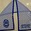 Thumbnail: Zeta Blue Shield Diamond Chiffon Scarf