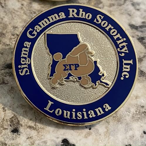 Sigma Gamma Rho Louisiana Lapel Pin