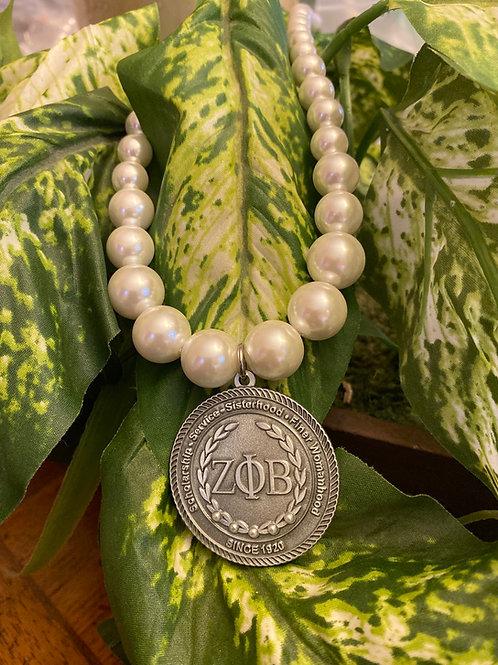 Zeta Executive Pearl Necklace
