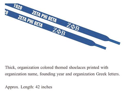 Zeta Phi Beta Shoestrings (Pair)