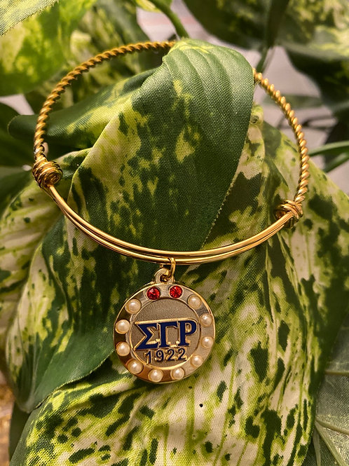 SGRho Rubies and Pearls Stainless Bracelet