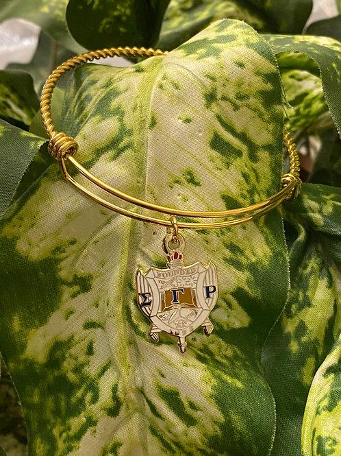 Gold Plated SGRho Shield Bracelet