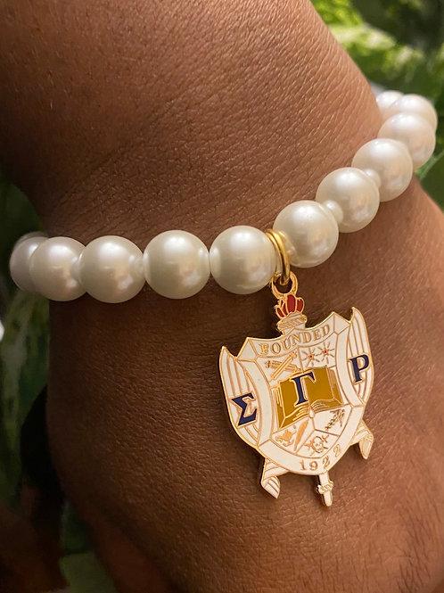 Sigma Gamma Rho Shield Pearls