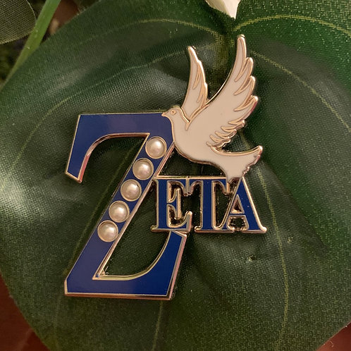 Zeta Dove Lapel Pin
