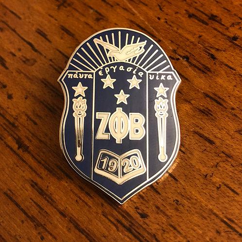 Zeta Phi Beta Shield Lapel Pin