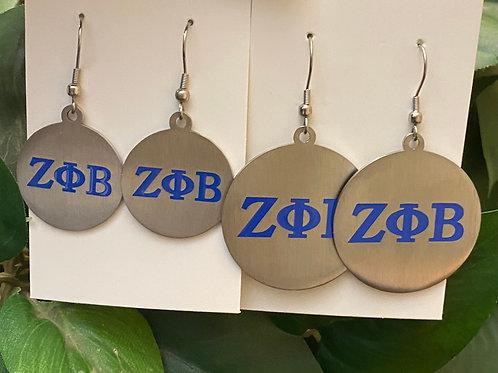 Zeta stainless Royal Letter Earrings
