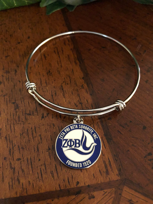 Zeta New Logo Stainless Bangle Bracelet