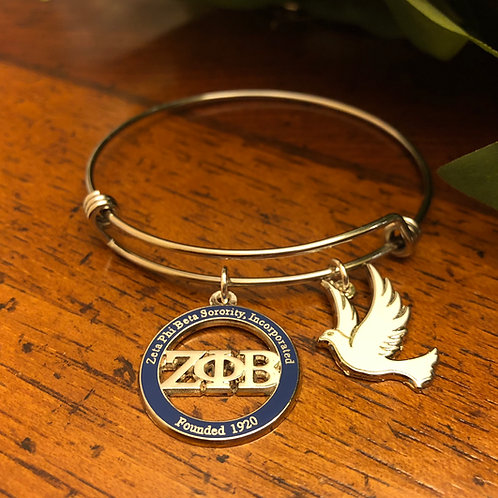 Zeta Blue LTR and Dove Stainless Bangle