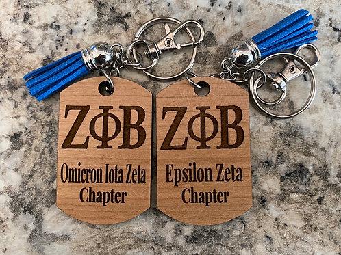 Zeta Chapter Keychain