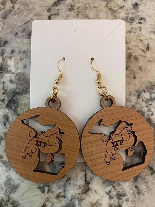 SGRho Michigan Earrings