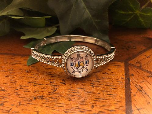 Sigma Gamma Rho Crystal Snap Bracelet