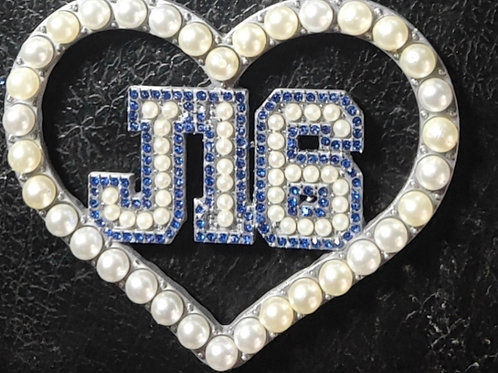 J16 Crystal Heart Lapel Pin